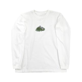 チモシーに埋もれるうさぎさん スクワーレル Long sleeve T-shirts