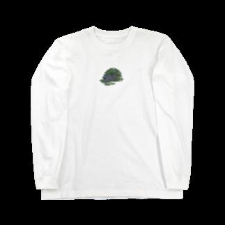 SCHINAKO'Sのチモシーに埋もれるうさぎさん ブラック Long sleeve T-shirts