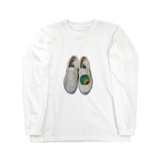 脳波デザイン Long sleeve T-shirts