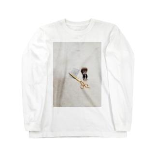 barberSii.. ハサミ Long sleeve T-shirts