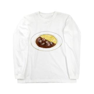 シーフードカレーなんだぜ? Long sleeve T-shirts