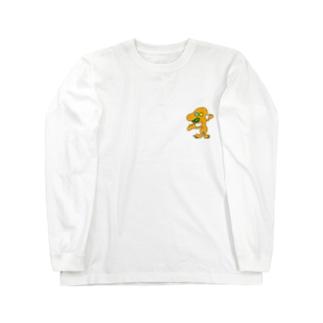 オレンジの宇宙人 ナンバー18 Long sleeve T-shirts