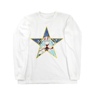 ティッシュババア(背景付き星型)ロングスリーブTシャツ Long sleeve T-shirts