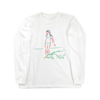 Playing with wave Long sleeve T-shirts