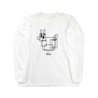 うさひるブロックの構成 Long sleeve T-shirts