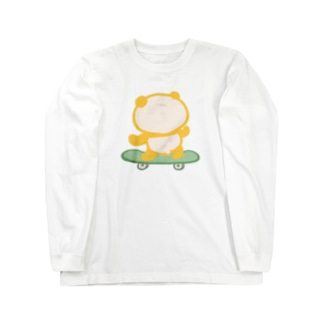 スケボーパンダ Long sleeve T-shirts