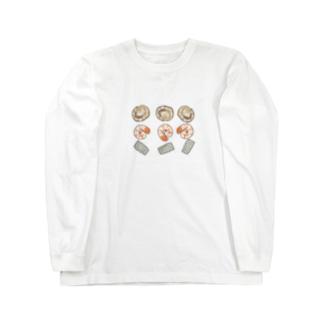 ほたてえびいか Long sleeve T-shirts