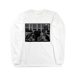 晴明対道尊(B) Long sleeve T-shirts