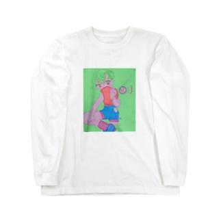 謎のキャッチャ Long sleeve T-shirts