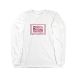 SWEET ROOM pink satin  Long sleeve T-shirts