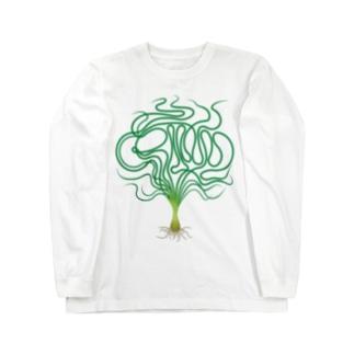 ミズクサT→クリナム アクアティカナローリーフ Long sleeve T-shirts