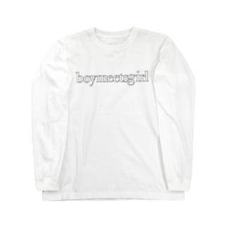 bmgシンプルロゴ Long sleeve T-shirts