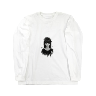 「見据える」ver.clear Long sleeve T-shirts