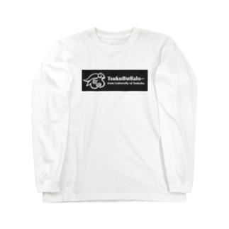 つくばっふぁロゴ Long sleeve T-shirts