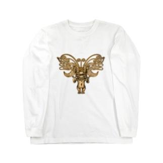 METのゴールドペンダント1 Long sleeve T-shirts
