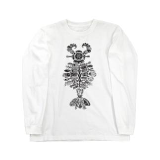 アノマロカリス Long sleeve T-shirts