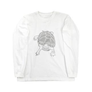 クサガメ Smiley Boggie (GY) Long sleeve T-shirts
