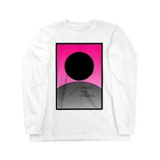 HANAFUDA『芒に月』風ロゴ Long sleeve T-shirts