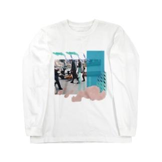 柴犬(さんぽ) Long sleeve T-shirts