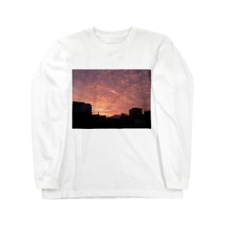 夕暮れ いわし雲 Long sleeve T-shirts