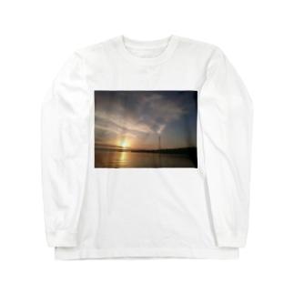 夕焼け 海 Long sleeve T-shirts