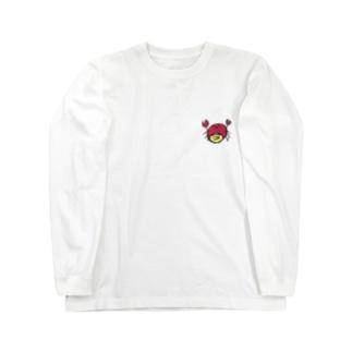 なまけたカニ Long sleeve T-shirts