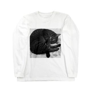 モノクロみぃにゃん Long sleeve T-shirts
