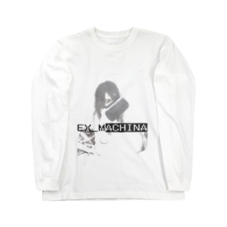 VR-Girl: Monotone Eye Long sleeve T-shirts