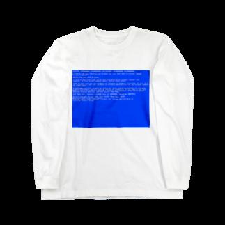 Desktop LabのBSOD(Blue Screen of Death) Long sleeve T-shirts