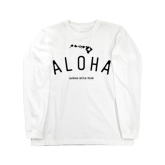 ALOHA ISLANDS  BLK LOGO Long sleeve T-shirts