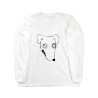 瞳に銀河犬 Long sleeve T-shirts