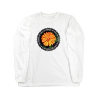 おれんじふらわー(レース) Long sleeve T-shirts