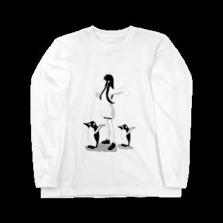 ℛest(りすと)のPENGUIN  to it's show(ペンギンと一緒) Long sleeve T-shirts