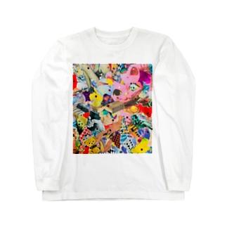 招キッチュ猫 Long sleeve T-shirts