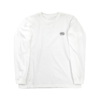 ナナメのナナメ[ワイヤーフレーム] Long sleeve T-shirts