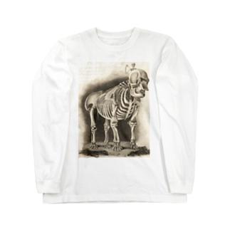 銅版画による人体骸骨 Long sleeve T-shirts