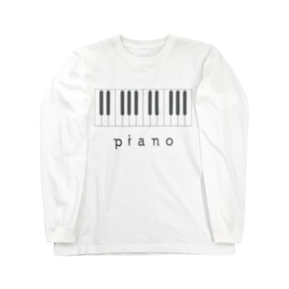 hitokoto-kotobaのhitokoto-kotoba_piano Long sleeve T-shirts