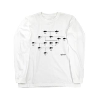 【与論産】オジサン家系図 Long sleeve T-shirts