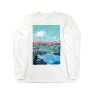 初夏、花の森 Long sleeve T-shirts