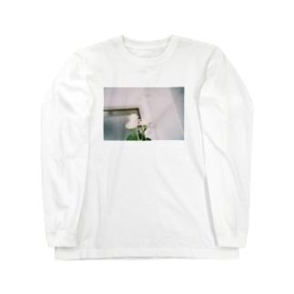 白いばら Long sleeve T-shirts