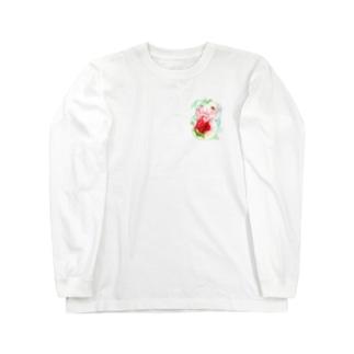 もぐぶーいちご Long sleeve T-shirts
