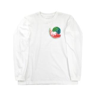もぐぶーすいか Long sleeve T-shirts