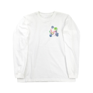 もぐぶーぶどう Long sleeve T-shirts