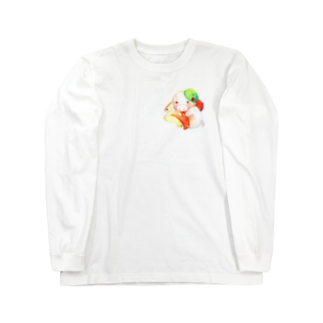 P-PiGのもぐぶーりんご Long sleeve T-shirts