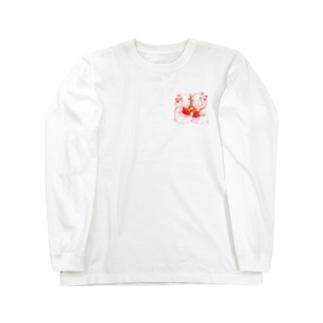 もぐぶーさくらんぼ Long sleeve T-shirts
