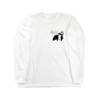 Let's 脱力! (ワンポイント) Long sleeve T-shirts