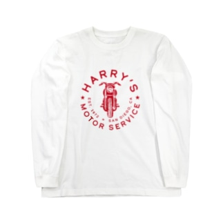 HARRY'S MOTOR SERVICE〈RED〉 Long sleeve T-shirts