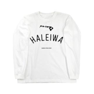 HALEIWA BLK LOGO Long sleeve T-shirts