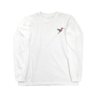 はばたくアンナハチドリ Long sleeve T-shirts
