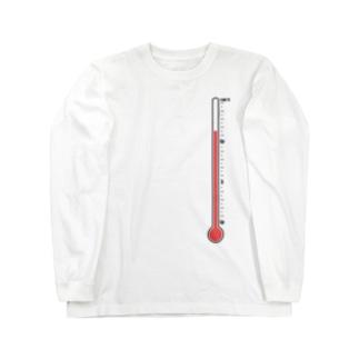 温度計・高温 Long sleeve T-shirts